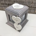Shabby Chic PERSONALISED Rustic Wood In Memory Of Mum Mam Or ANY NAME Photo Cube - 253968392935